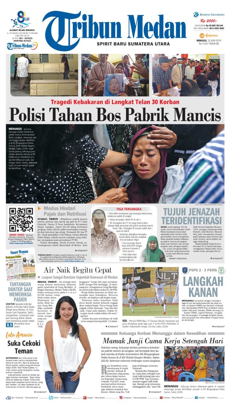 Koran Digital Tribun Medan 23 Juni 2019