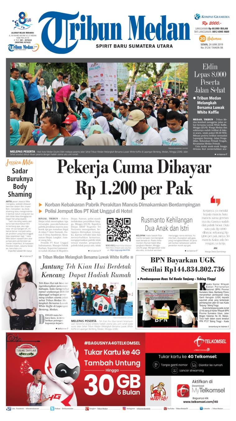 Koran Digital Tribun Medan 24 Juni 2019