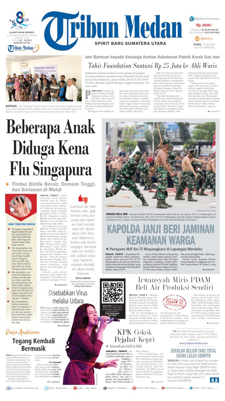 Koran Digital Tribun Medan 11 Juli 2019