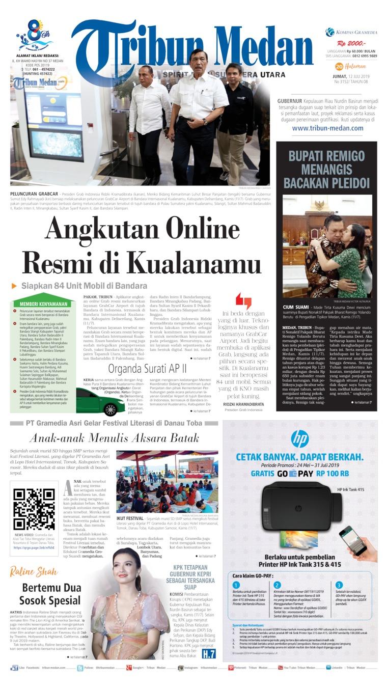 Koran Digital Tribun Medan 12 Juli 2019