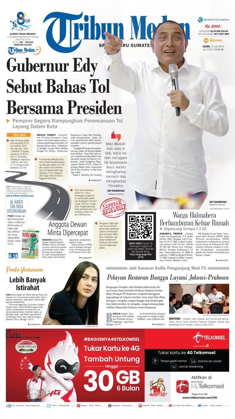 Koran Digital Tribun Medan 15 Juli 2019