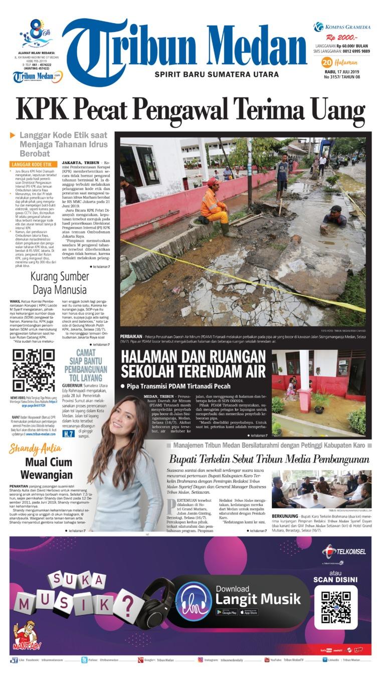 Koran Digital Tribun Medan 17 Juli 2019