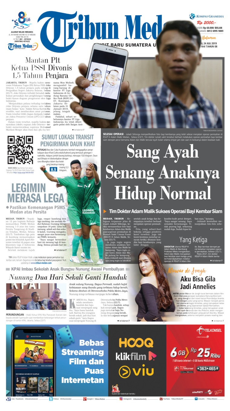 Tribun Medan Digital Newspaper 24 July 2019