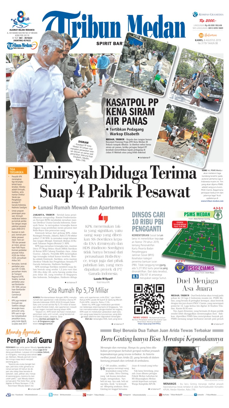 Koran Digital Tribun Medan 08 Agustus 2019