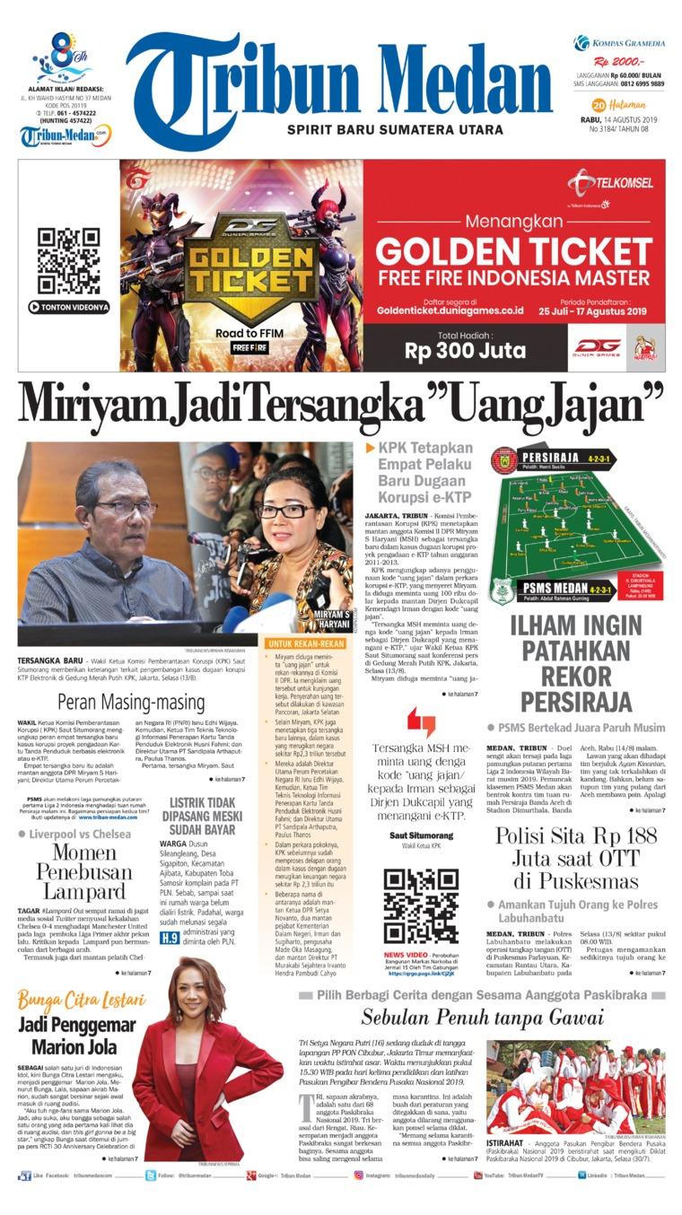 Koran Digital Tribun Medan 14 Agustus 2019