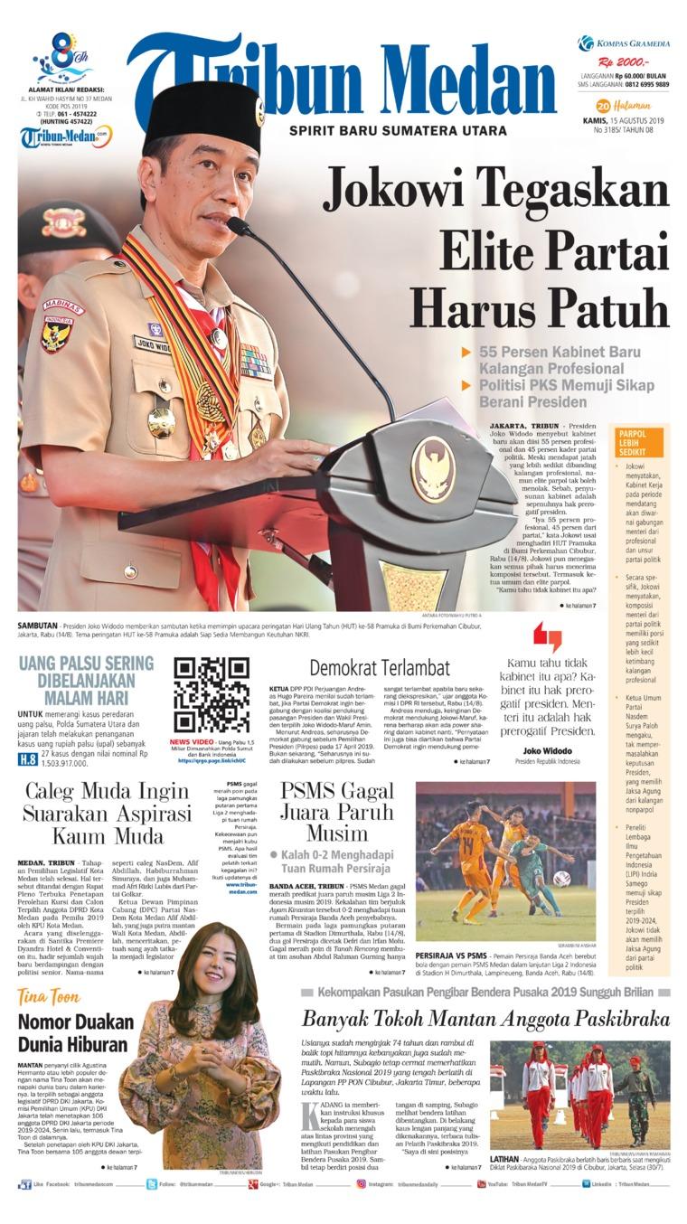 Koran Digital Tribun Medan 15 Agustus 2019