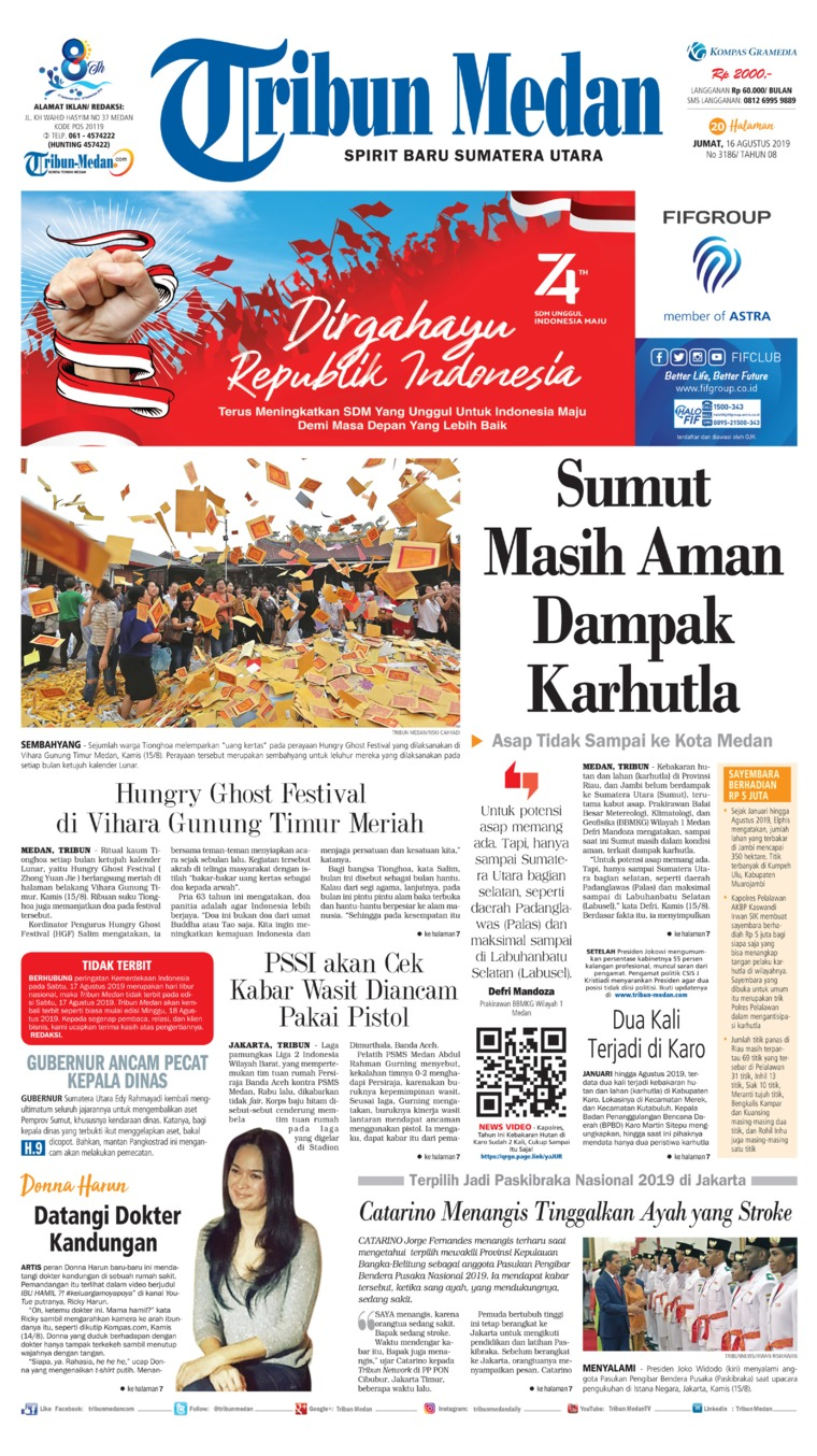 Koran Digital Tribun Medan 16 Agustus 2019