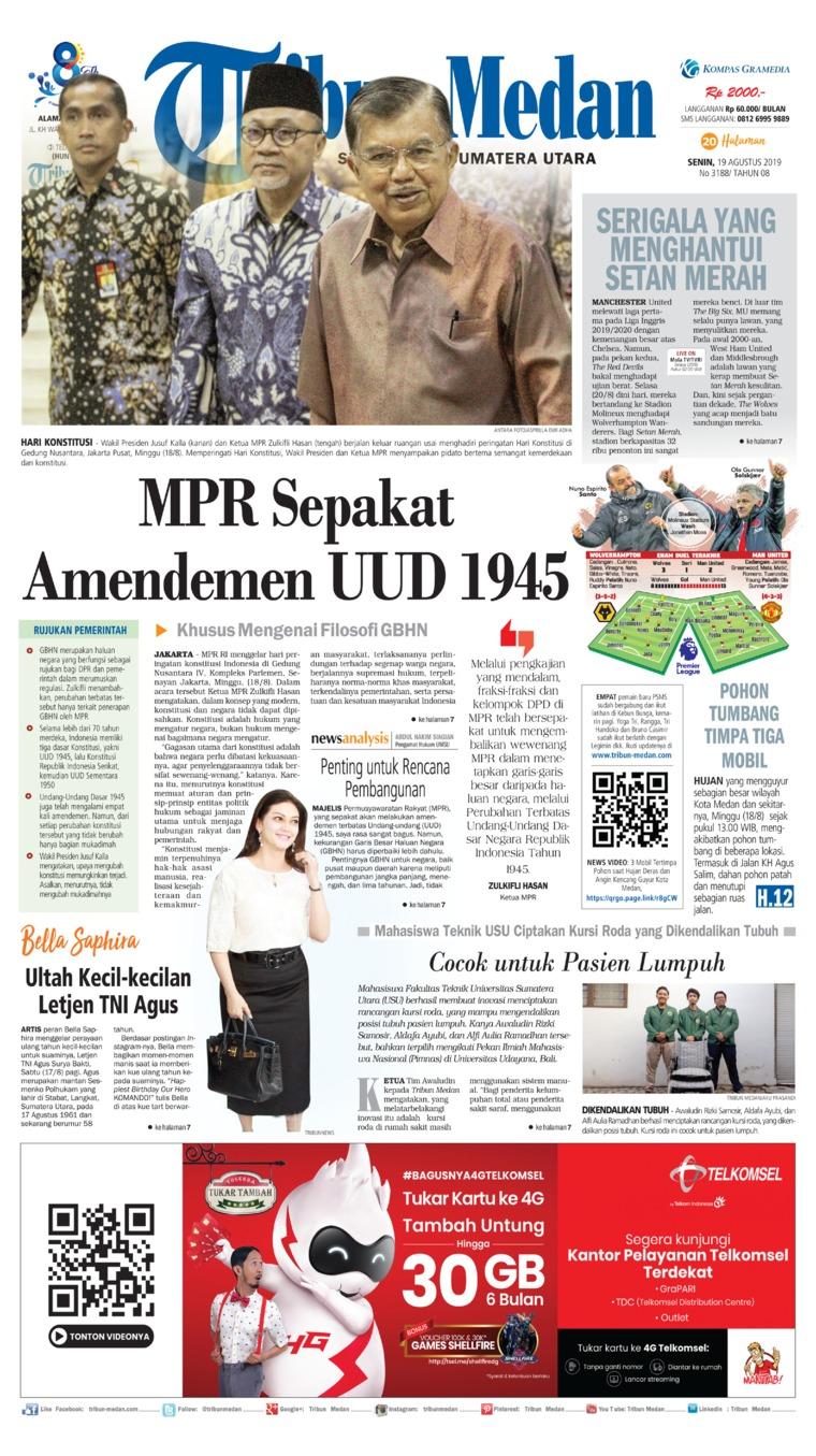Tribun Medan Digital Newspaper 19 August 2019