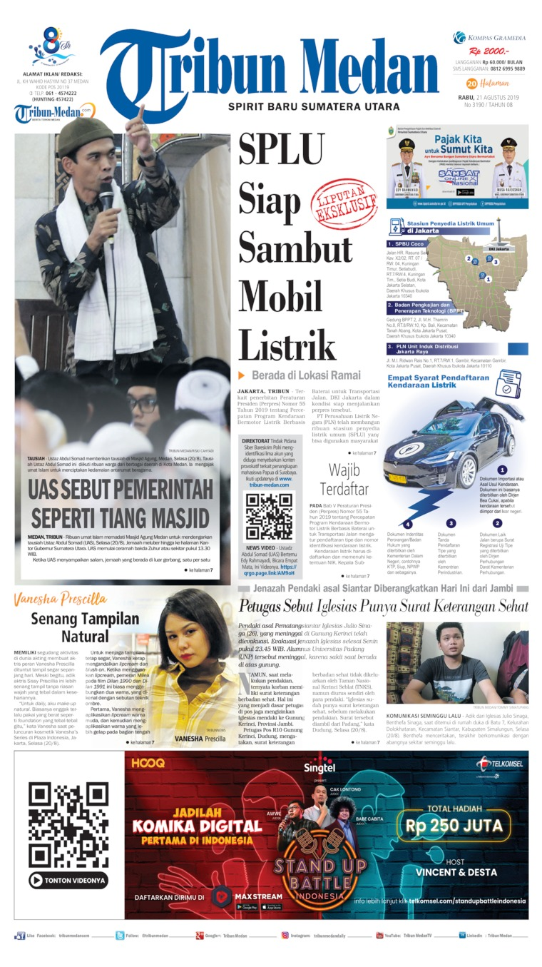 Tribun Medan Digital Newspaper 21 August 2019