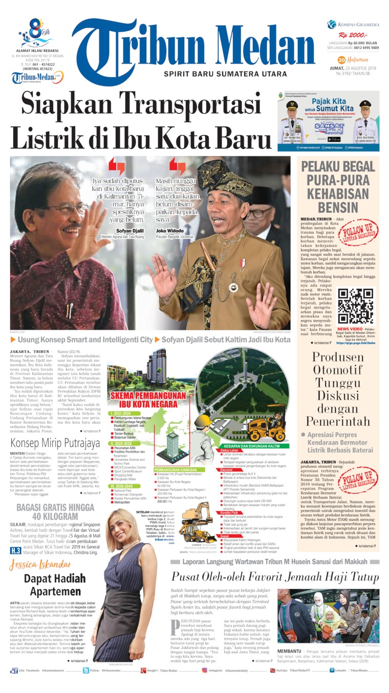 Koran Digital Tribun Medan 23 Agustus 2019