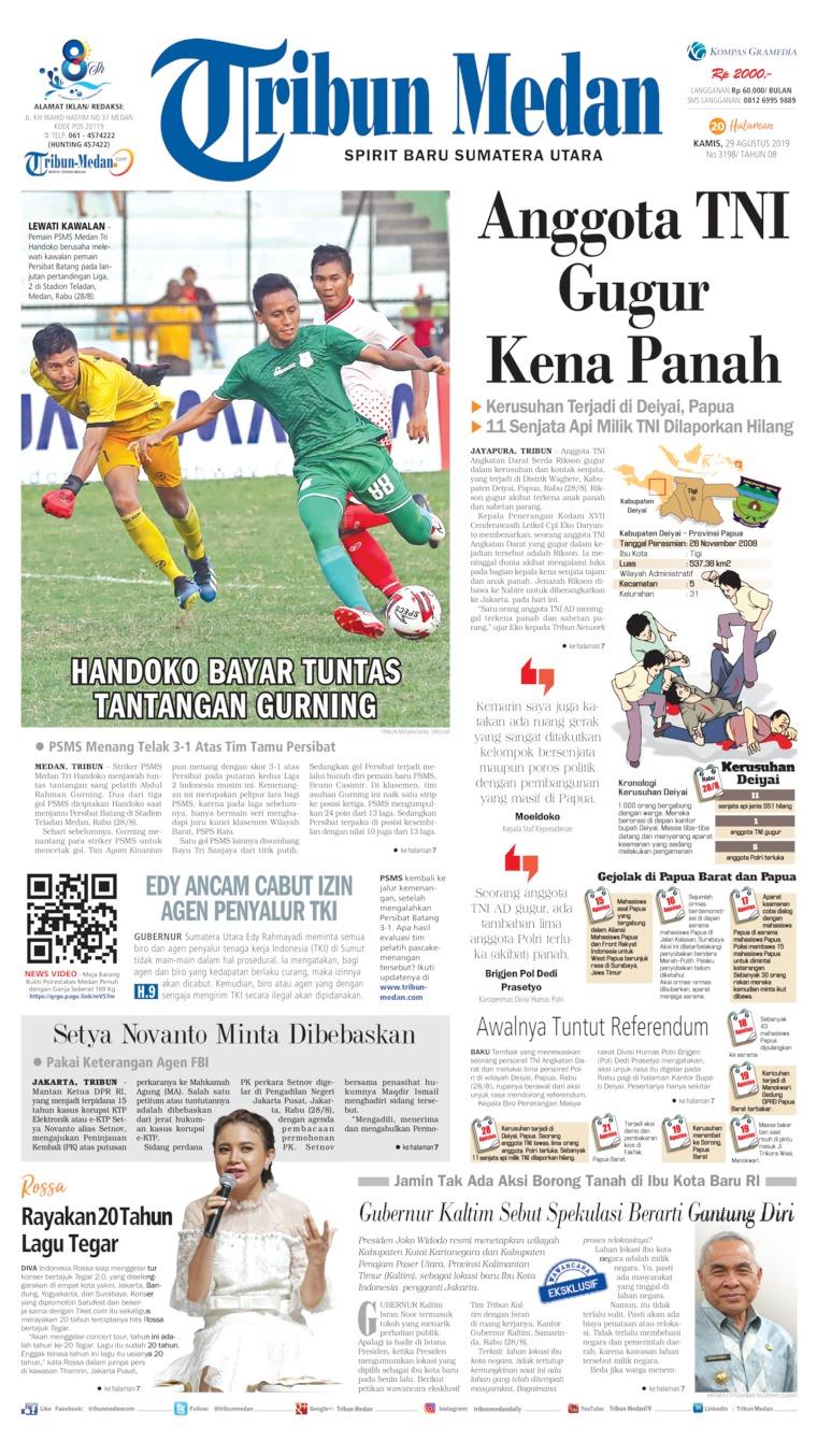 Tribun Medan Digital Newspaper 29 August 2019
