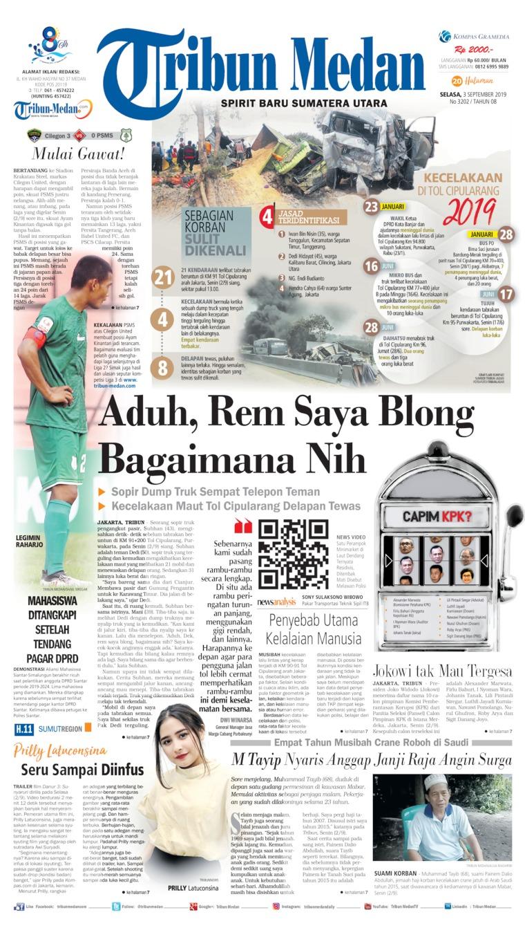Tribun Medan Digital Newspaper 03 September 2019
