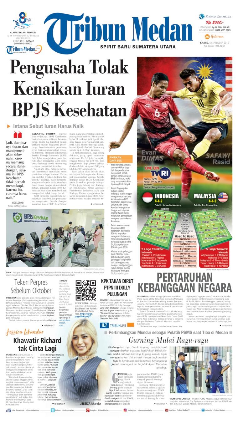 Tribun Medan Digital Newspaper 05 September 2019