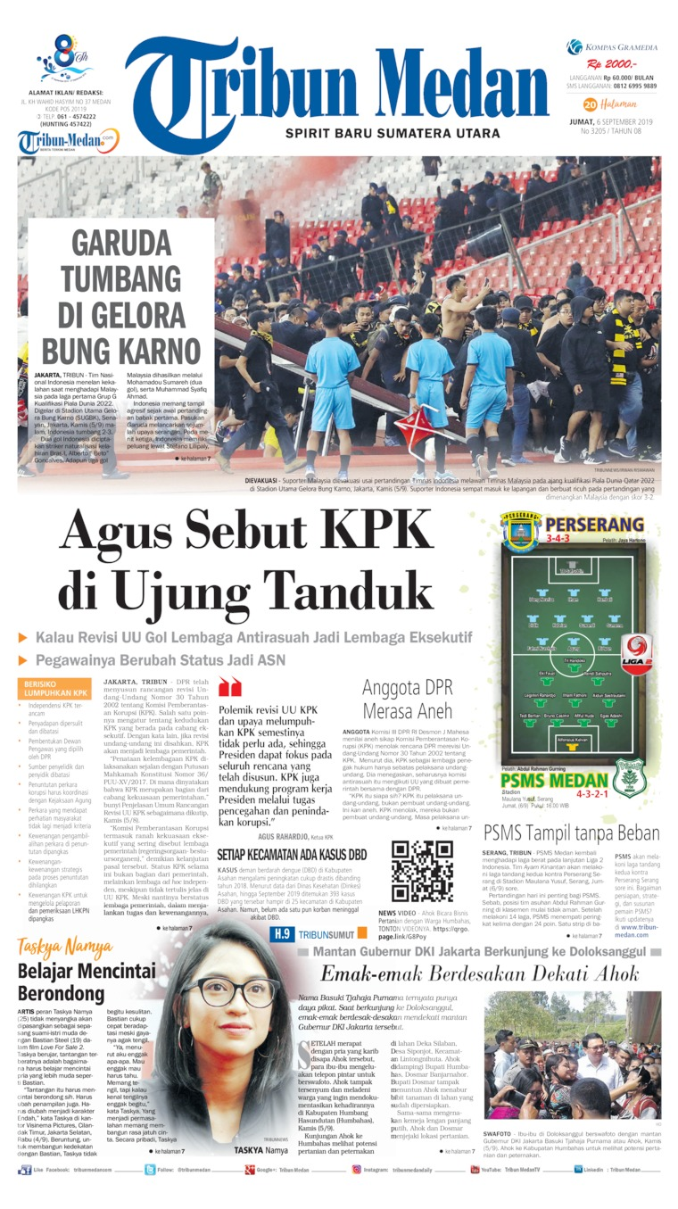 Tribun Medan Digital Newspaper 06 September 2019