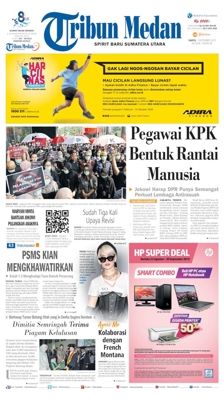 Tribun Medan Digital Newspaper 07 September 2019