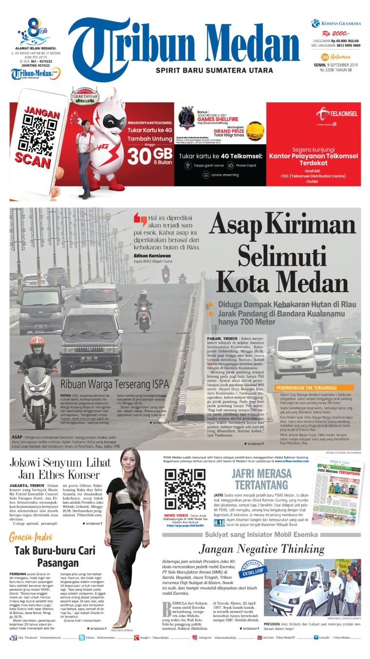 Tribun Medan Digital Newspaper 09 September 2019