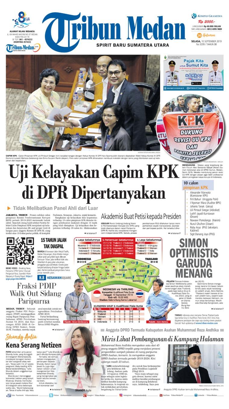 Tribun Medan Digital Newspaper 10 September 2019