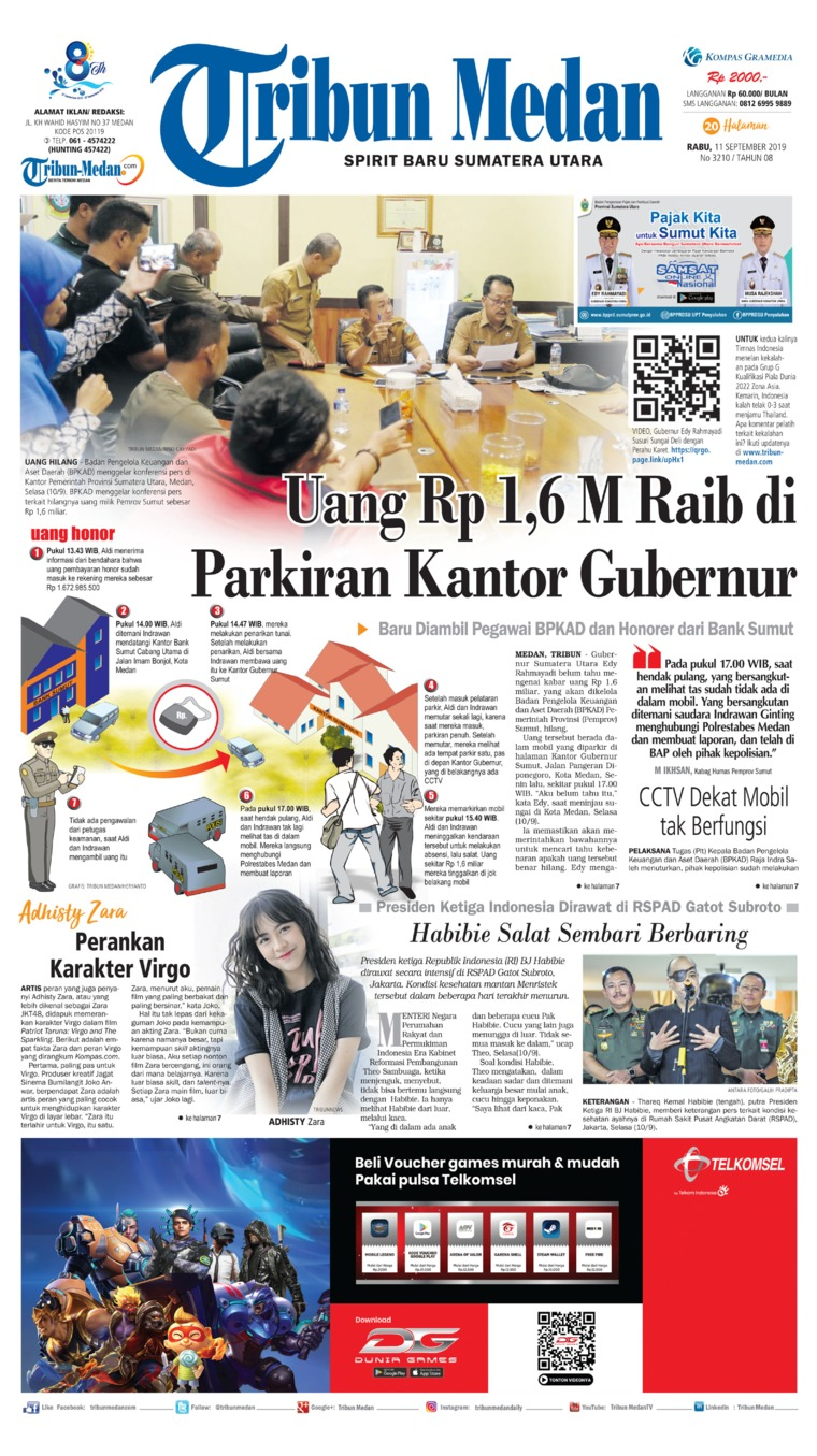 Tribun Medan Digital Newspaper 11 September 2019