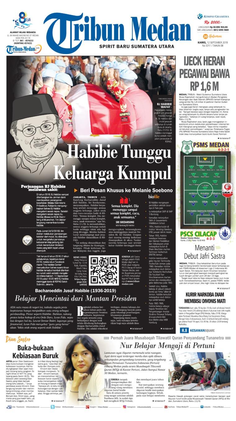 Tribun Medan Digital Newspaper 12 September 2019