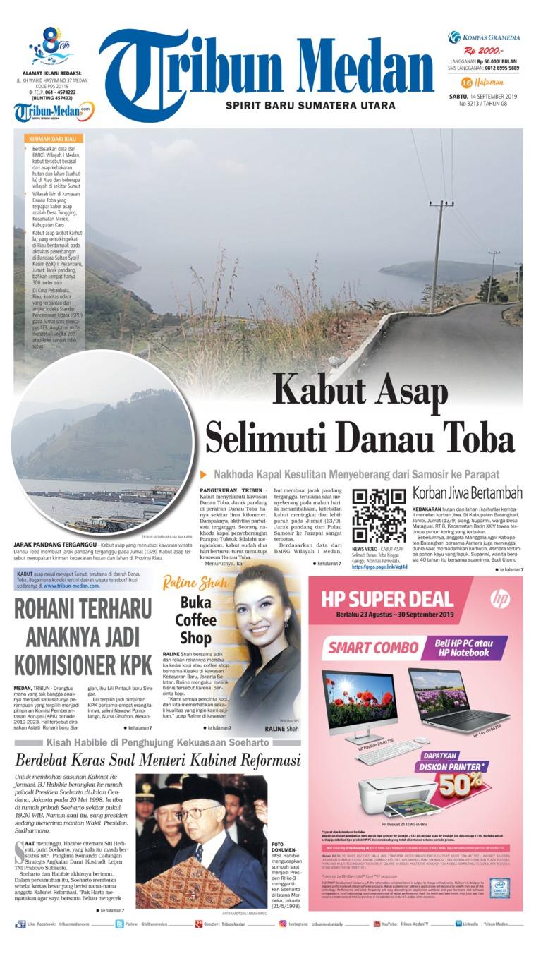 Koran Digital Tribun Medan 14 September 2019