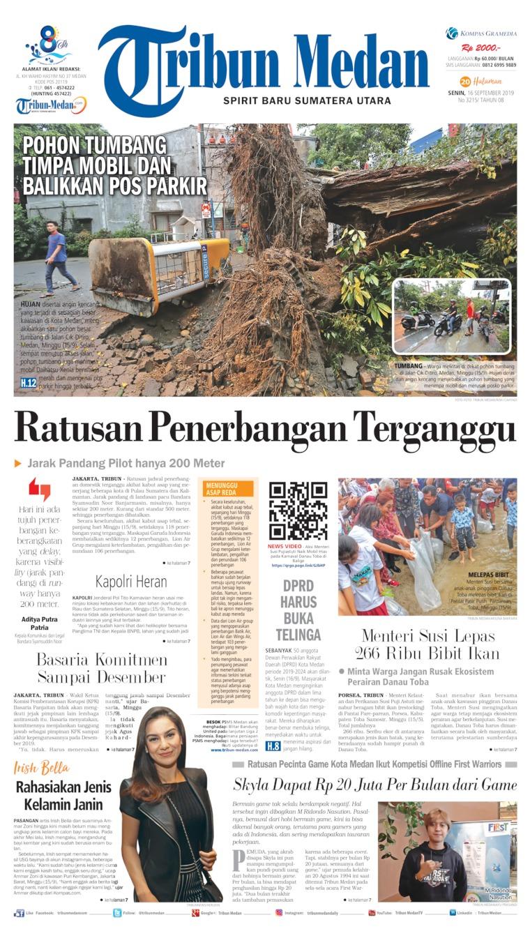 Tribun Medan Digital Newspaper 16 September 2019