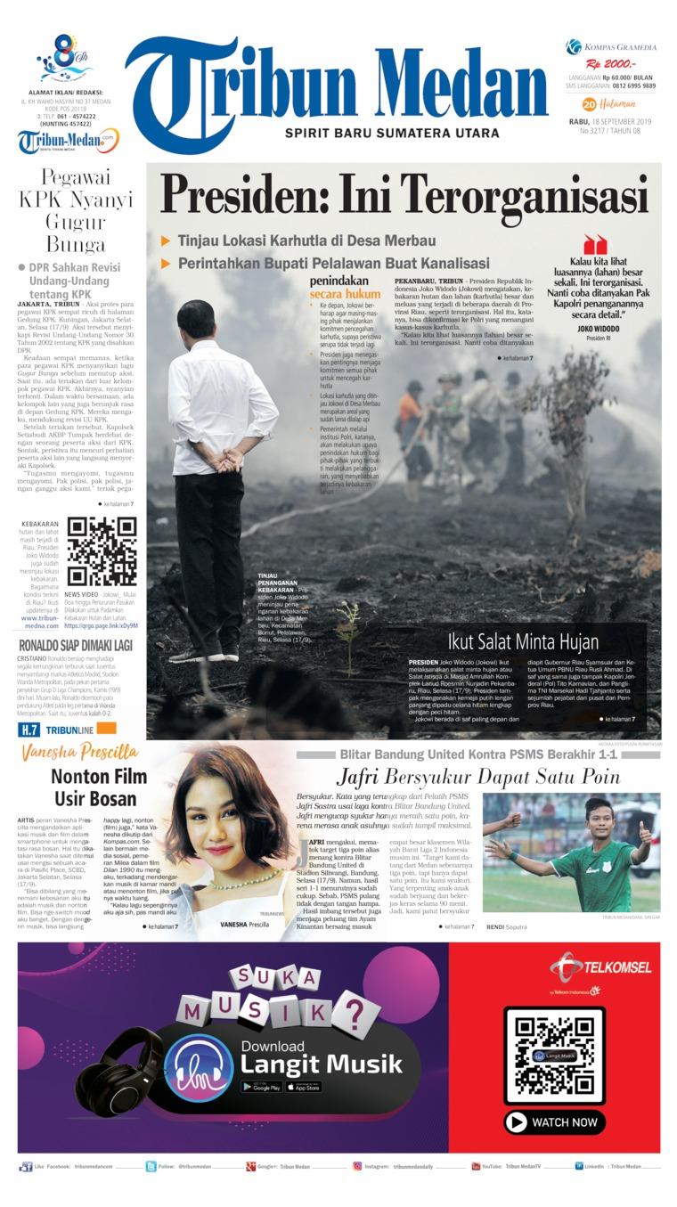 Koran Digital Tribun Medan 18 September 2019