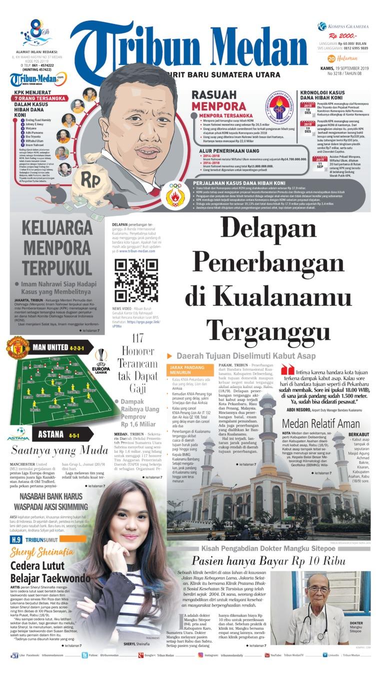 Koran Digital Tribun Medan 19 September 2019