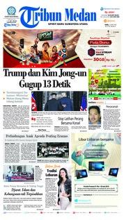Cover Tribun Medan 13 Juni 2018