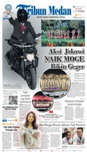 Cover Tribun Medan 19 Agustus 2018