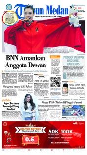 Cover Tribun Medan 21 Agustus 2018