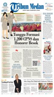 Cover Tribun Medan 16 September 2018