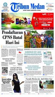 Cover Tribun Medan 19 September 2018