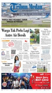 Cover Tribun Medan 14 Januari 2019
