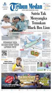 Cover Tribun Medan 15 Januari 2019