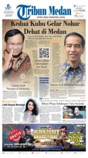 Cover Tribun Medan 17 Januari 2019