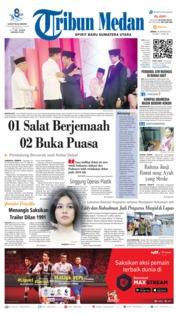 Cover Tribun Medan 18 Januari 2019