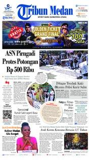 Cover Tribun Medan 22 Januari 2019