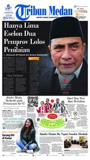 Cover Tribun Medan 20 Februari 2019