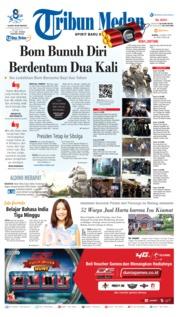 Cover Tribun Medan 14 Maret 2019