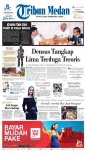 Cover Tribun Medan 15 Maret 2019