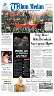 Cover Tribun Medan 17 Maret 2019