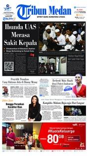 Cover Tribun Medan 19 Maret 2019