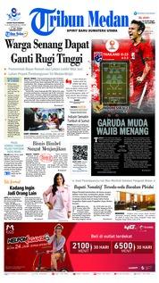 Cover Tribun Medan 22 Maret 2019