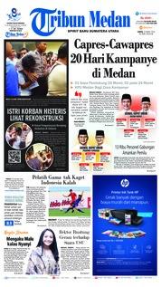 Cover Tribun Medan 23 Maret 2019