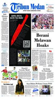 Cover Tribun Medan 24 Maret 2019
