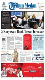 Cover Tribun Medan 26 Maret 2019