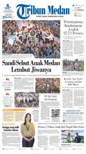 Cover Tribun Medan 08 April 2019