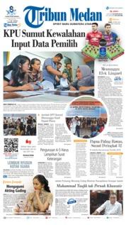 Cover Tribun Medan 10 April 2019