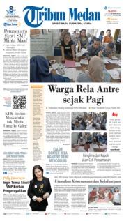 Cover Tribun Medan 11 April 2019