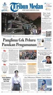Cover Tribun Medan 12 April 2019